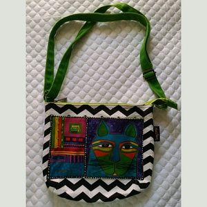 Laurel Burch colorful cat bag